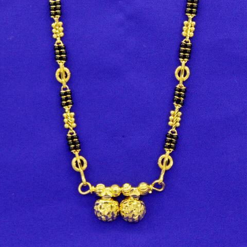 WATI PENDENT 1 GRAM GOLD PLATED MANGALSUTRA – Soncha