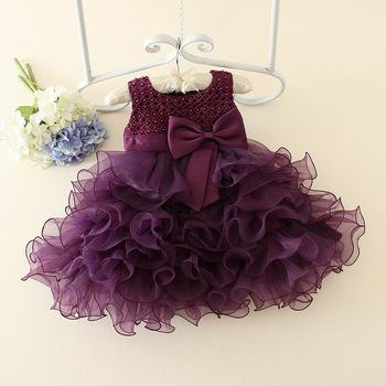 New Design Girls Party Dresses Mini Summer 1 Year Baby Girl .