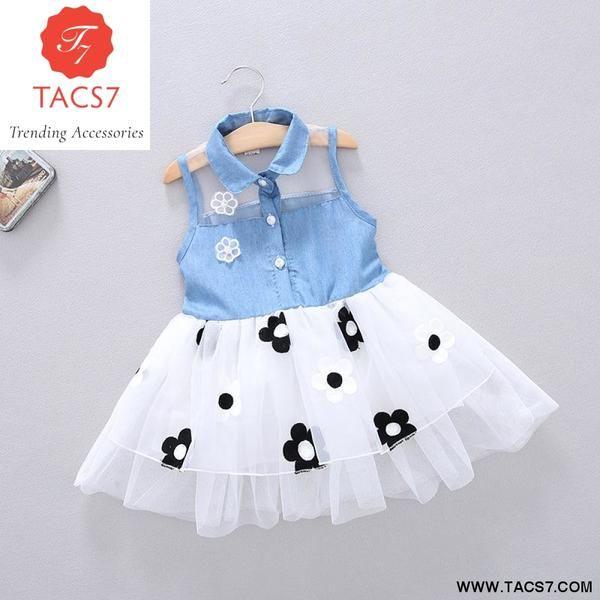 NEW summer Baby Girls Kids Princess denim Dress girl's dresses .