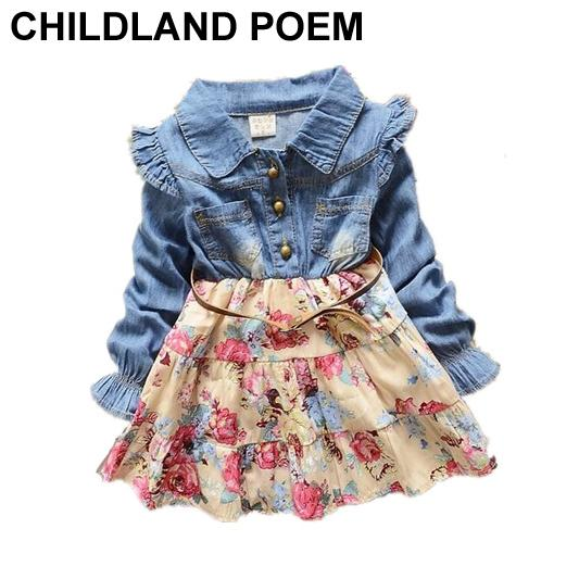 2020 Wholesale Autumn Baby Girl Dress Floral Christening Long .