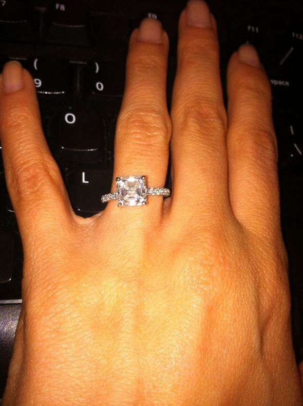 Show me your 2 carat + diamond rings (With images) | Asscher .