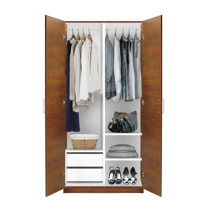 Alta 2 Door Wardrobe Side By Side (With images) | Small closets .