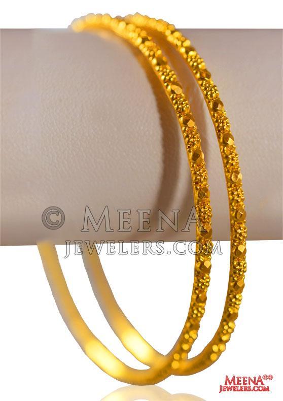 22 Karat Gold Bangles (2 PCs) - BaGo25521 - US$ 1,146 - 22 karat .