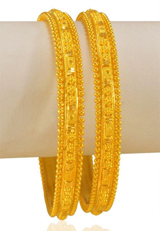 22 Karat Gold Bangles - BaGo23419 - [Bangles > Gold Bangle