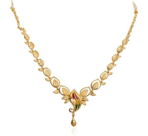 9 Beautiful 25 Grams Gold Necklace Designs In India | Gold .