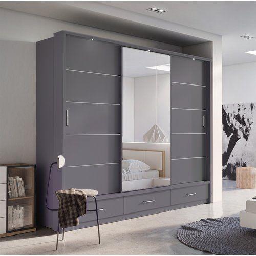 Rolando 3 Door Sliding Wardrobe 17 Stories | Wardrobe design .