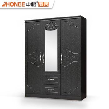 Pvc Wooden Bedroom Wall 3 Door Bedroom Wardrobe Design - Buy 3 .