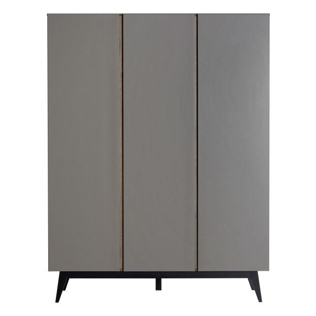 Trendy 3-Door Wardrobe Grey Quax Design Baby , Childr