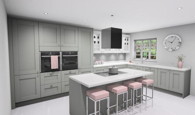 Create beautiful 3d renders from your kitchen design by Williamshold