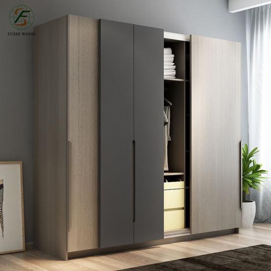 Latest Product 4 Door Bedroom Wardrobe Wood Wardrobe Design .