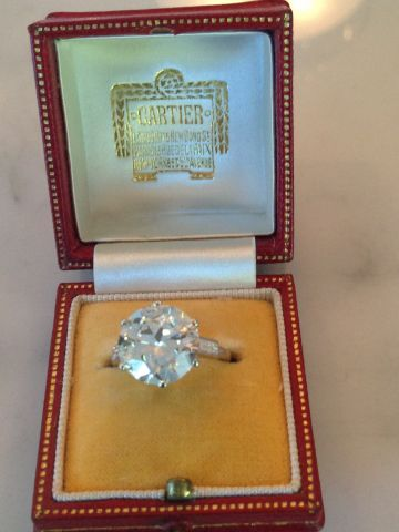 Jewel of the Week - 5-Carat Cartier Art Deco Diamond Ring (With .