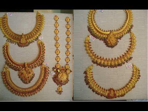 EPISODE=482 Traditional Gold Antique Jewellery Designs/Long Haaram .