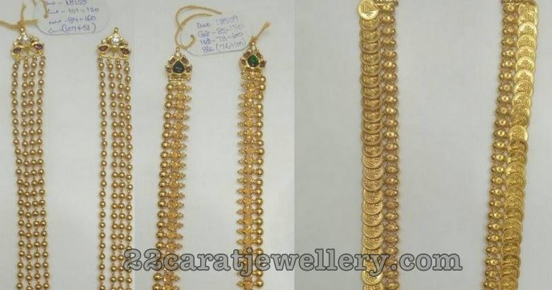 Simple Gold Long Sets 50 Grams - Jewellery Desig