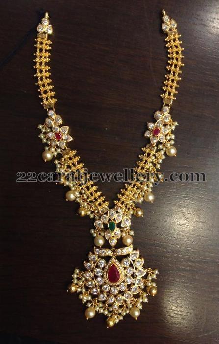 Jewellery Designs: 50 Grams Kundan Necklace | Wedding jewelry .