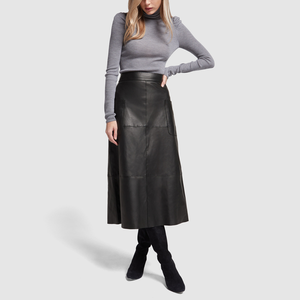 Marie Leather A-Line Skirt | G. Label - Goop Sh