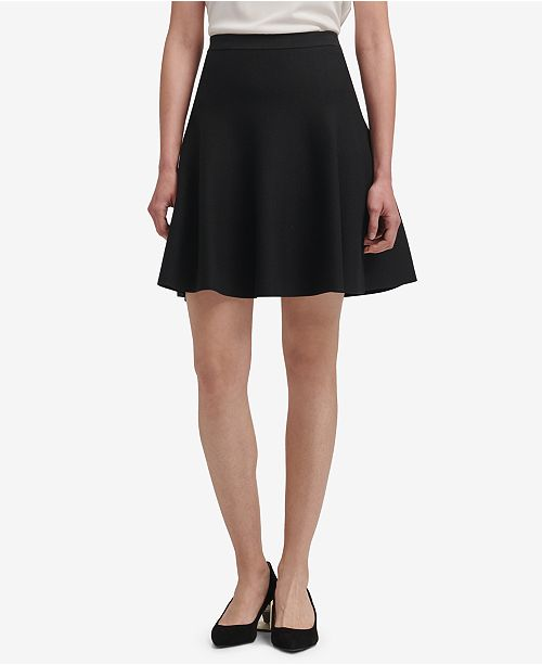 DKNY Knit A-Line Skirt & Reviews - Skirts - Women - Macy