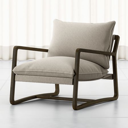 Polly Ivory Accent Chair + Reviews   Crate and Barr