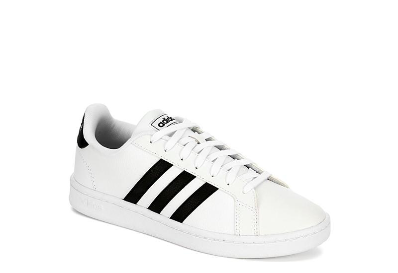 White & Black adidas Grand Court Women's Sneakers | Rack Room Sho