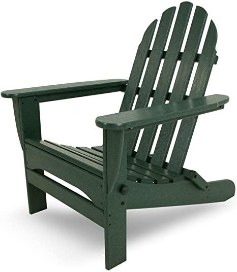 Amazon.com : POLYWOOD AD5030GR Classic Folding Adirondack Chair .