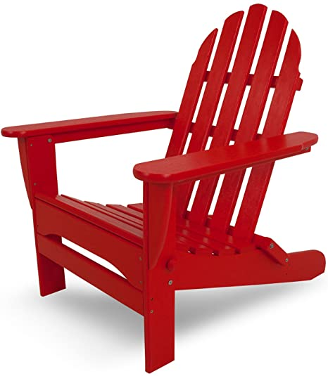 Amazon.com : POLYWOOD AD5030SR Classic Folding Adirondack Chair .
