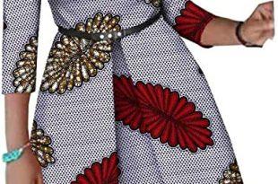 Amazon.com: Afripride African Dresses for Women Ankara Print Plus .