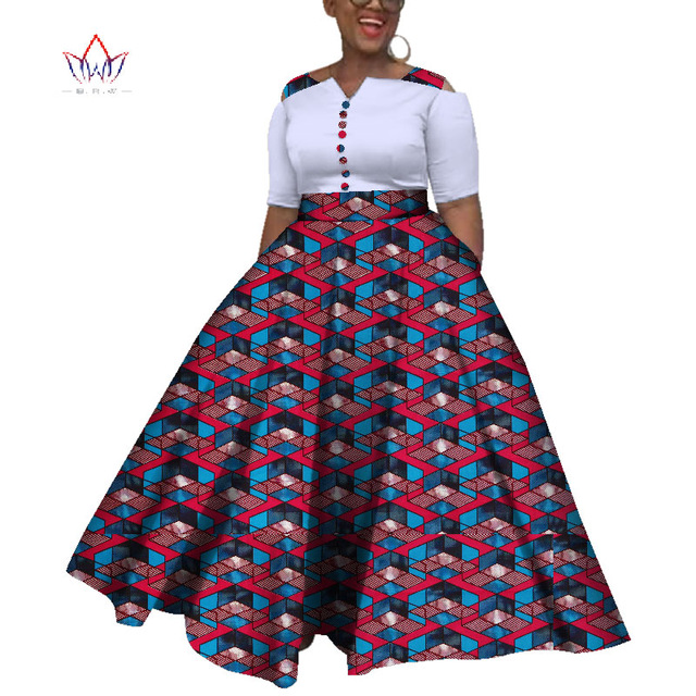 2019 Dashiki African Dresses For Women Colorful Daily Wedding Size .