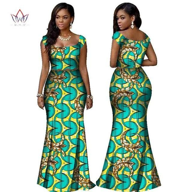 BRW 2017 African Print Two Piece Set Dashiki African Clothes for .