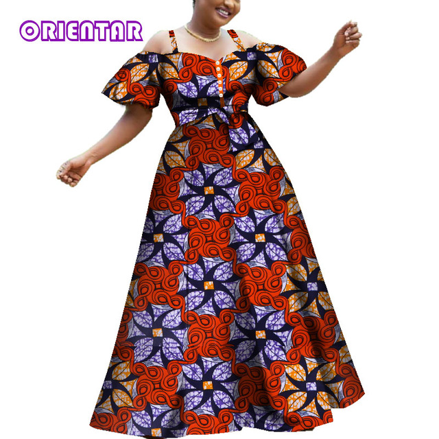 2020 Women African Dresses Fashion Off Shoulder Puff Sleeve Party .