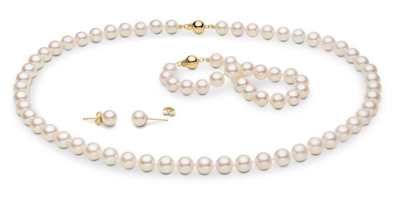 Akoya Pearl Jewelry Set: 7.0-7.5mm - Pearls of J