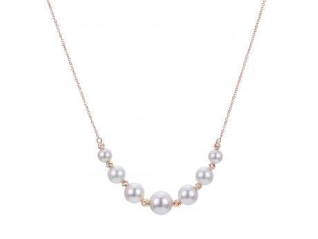 14K Yellow Gold Akoya Pearl Necklace 963500/A   Hollingsworth .