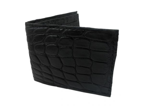 Angry Gator - Alligator Wallets - Black with Ostrich Interi