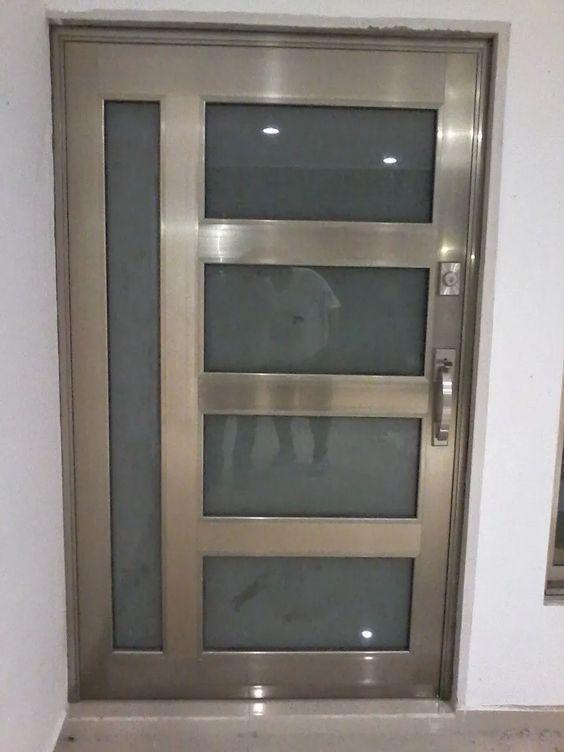 Aluminum Main Doors in 2020 (With images)   Door design modern .