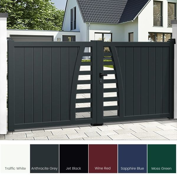 Aluminium Driveway Gates - The Padstow | House gate design, Gate .