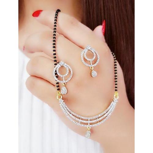 Designer American Diamond Mangalsutra Pendant (Set of 25), Rs 110 .