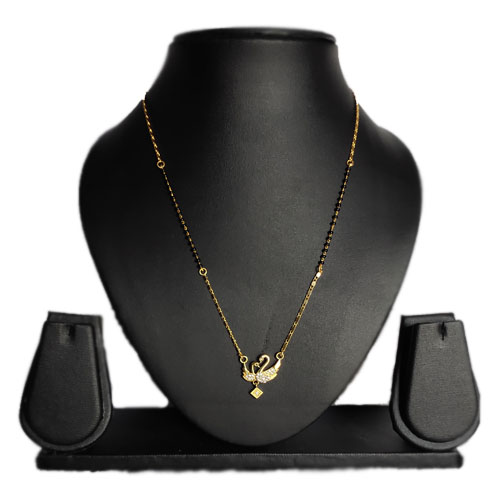 Traditional Gold Plated American Diamond Mangalsutra for Wom
