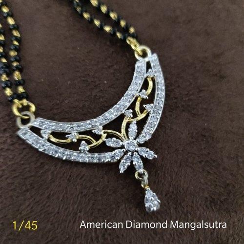 Vardhaman Goodwill Brass American Diamond Mangalsutra Chain, Rs .