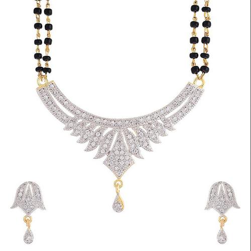 Gold Combo Of Three Designer American Diamond Mangalsutra, Rs 623 .