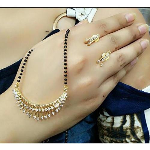 Sri Mann Collection American Diamond Mangalsutra Set, Rs 300 /set .