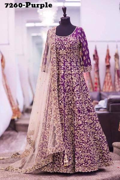 Purple Bollywood Anarkali Churidar Suits Designs – Indian Dress