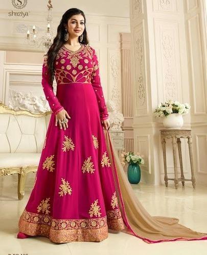 Designer Long Ethnic Anarkali Salwar Suit, Anarkali, Anarkali .