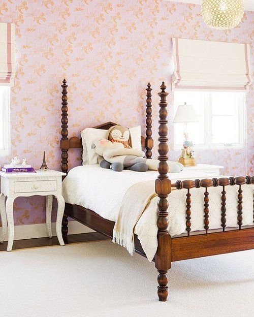 Loving everything about this space! That antique bed is so good .