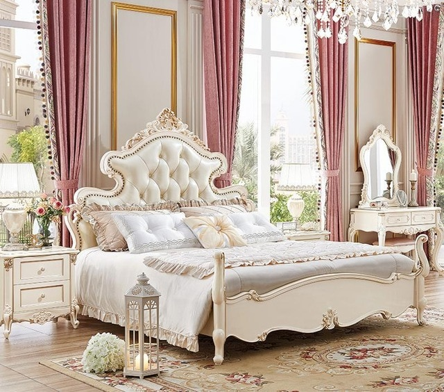 Best Offers Hot sale Luxury Italian bed classic antique bed europe .