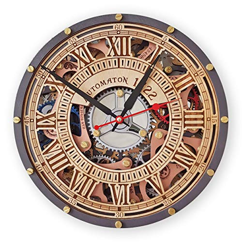 Amazon.com: Automaton Skeleton 1722 moving Gears wall clock .