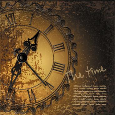 Free vintage clock vector free vector download (10,056 Free vector .