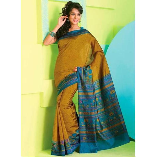 Multicolor Rathi Art Silk Saree, Rs 350 /piece Rathi Silk And .