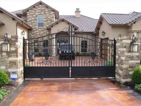 Automatic Driveway Gates Design for Homes - YouTu