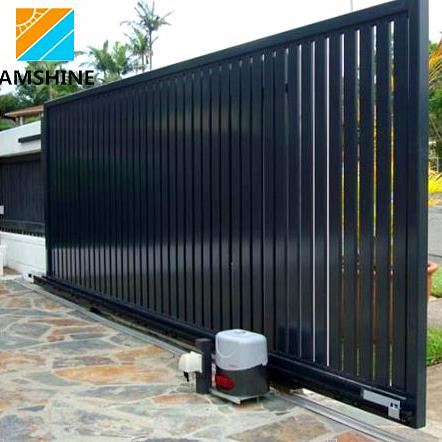 Eco Friendly House Main Aluminum Automatic Motorized Sliding Gate .