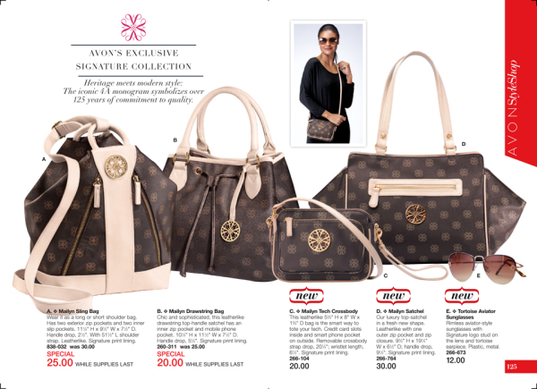 Avon Signature Collection Mailyn Handbags | beautifulval
