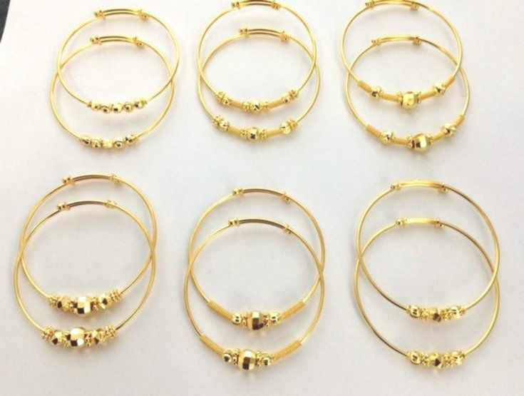 Gold #baby #bangle #lightweight | Kids gold jewelry, Gold baby .