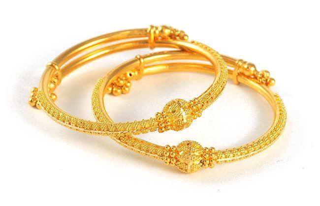 22Kt Indian Baby Gold | Baby Bangles (22kt Gold) - BjBa4100 - 22kt .